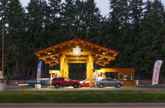 Fueling Area at Twilight, Yelm Highway